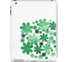 Paper watercolour green flowers iPad Case/Skin
