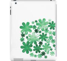 Paper watercolour green flowers iPad Case/Skin