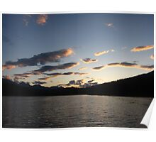 Lake Silhouette  Poster