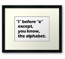 Grammar - Black Framed Print