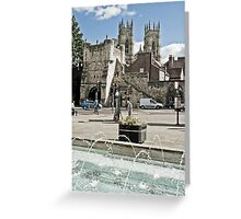 City of York Exhibition Square Greeting Card