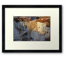 Minnehaha Falls and Ice Framed Print