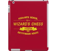Hogwarts Wizard's Chess Champion — Gryffindor House iPad Case/Skin
