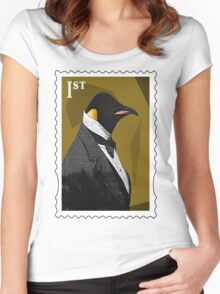 Old Timey Penguin Women's Fitted Scoop T-Shirt