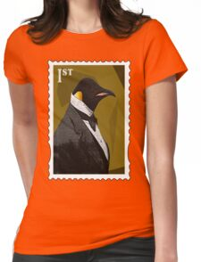 Old Timey Penguin Womens Fitted T-Shirt
