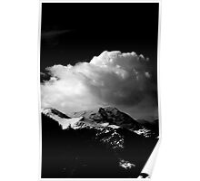 Clouds in the Rocky Mountains  Poster