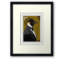 Old Timey Penguin Framed Print