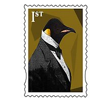 Old Timey Penguin Photographic Print