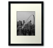 Newcastle upon Tyne Millenium Bridge, England Framed Print