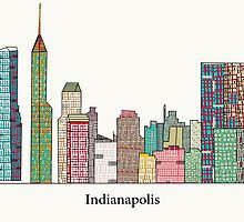 Indianapolis skyline by bri-b