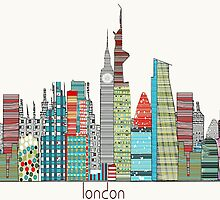 london city skyline by bri-b