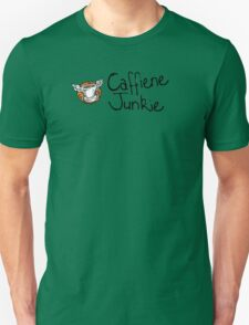 Caffiene junkie -black font T-Shirt