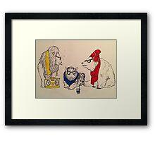 Underground Zoo Framed Print