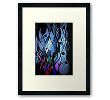 Twilit Stained Glass Plant Framed Print