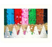 Coloured bubbles Art Print