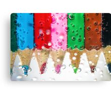 Coloured bubbles Canvas Print