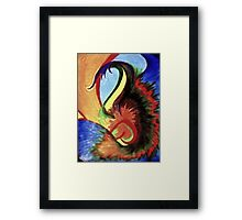 Bird Afire Framed Print