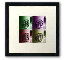 Starbucks Mugs Framed Print