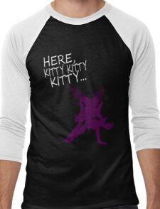 Here Kitty Men's Baseball ¾ T-Shirt