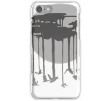 Flock Of Rain In Gloomy Grey iPhone Case/Skin