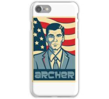 american archer red white and blue iPhone Case/Skin