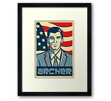 american archer red white and blue Framed Print