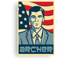 american archer red white and blue Canvas Print