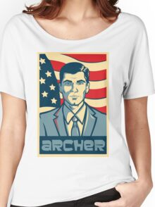 american archer red white and blue Women's Relaxed Fit T-Shirt