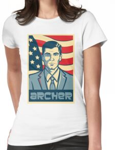 american archer red white and blue Womens Fitted T-Shirt