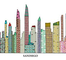 sandiego skyline by bri-b