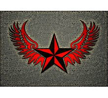 NAUTICAL STAR - Wings - Protection & Guidance SAILORS & TRAVELERS Photographic Print