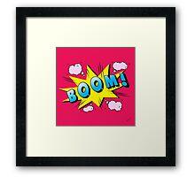 boom Framed Print