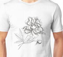 Peony.Sketch black and white Unisex T-Shirt