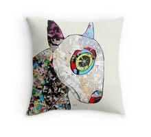 bull terrier modern  Throw Pillow