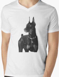 Dobberman  Mens V-Neck T-Shirt