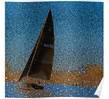 Pointillism in Boating Poster