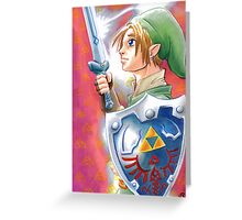 Link, the Hero Greeting Card