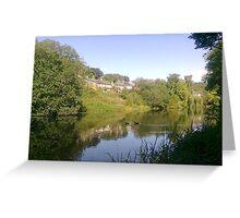 Dam Scene in Holmfirth Greeting Card