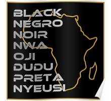 BLACK in Every Language Poster