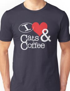 I <3 Cats & Coffee Unisex T-Shirt