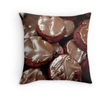 Chocolate Red Velvet Cookies Throw Pillow