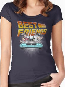 Best Friends - Back To The Future Women's Fitted Scoop T-Shirt