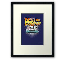 Best Friends - Back To The Future Framed Print