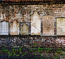 The Wall of Colonial Park Cemetery by Dana Horne