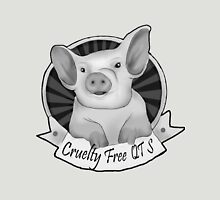 Greyscale CrueltyFreeQTs Piggy - Art by Lilibeth Womens Fitted T-Shirt