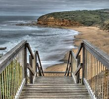 Stairway to Surfing Heaven, Bells Beach, Victoria by Adrian Paul