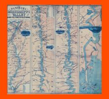 Civil War Maps 1233 Panorama of the Mississippi Valley and its fortifications Kids Tee