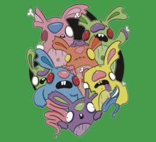 Creepies - Zombunnies One Piece - Short Sleeve