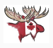 Artistic Canadian flag moose head by artisticattitud
