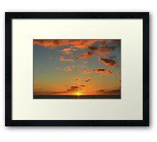Sunset, Sea and Sky Framed Print
